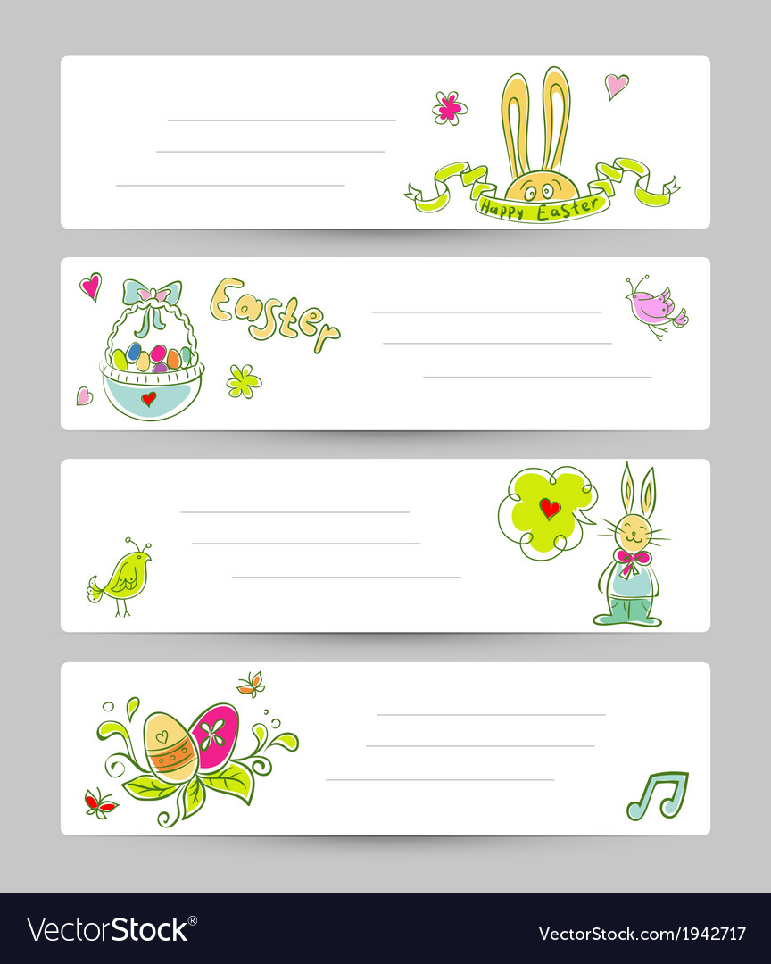 Easter templates vector image
