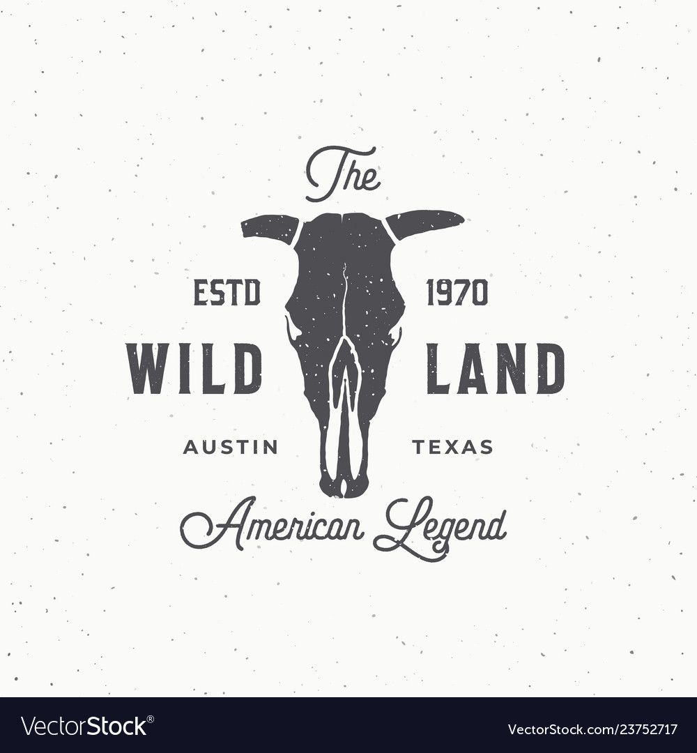 Wild land abstract sign symbol or logo