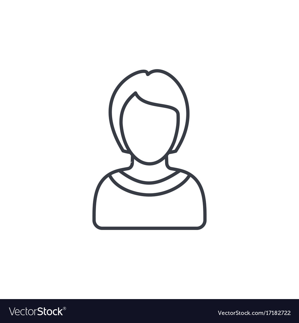 Avatar woman thin line icon linear symbol