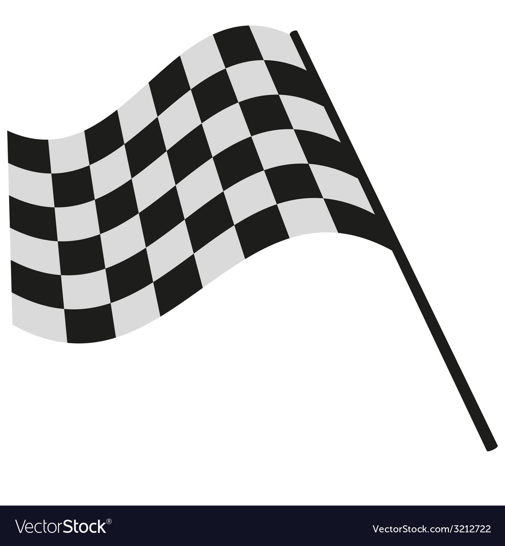 checkered flag racing royalty free vector image rh vectorstock com checkered flag vector free download checkered flag vector free