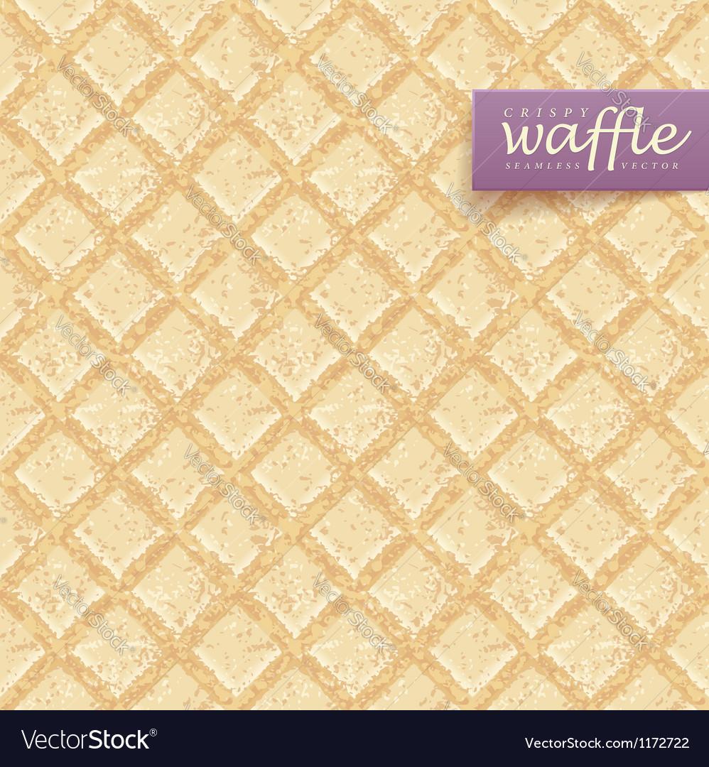 Crisp waffles pattern vector image