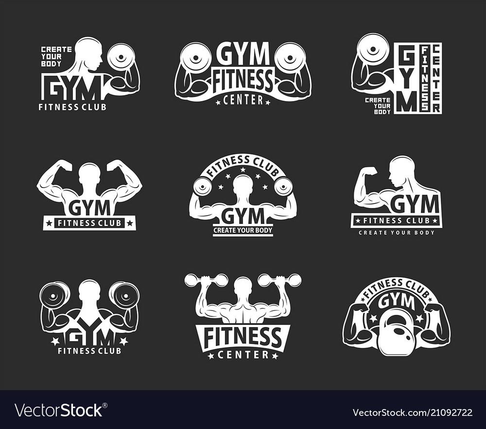 Gym emblem set