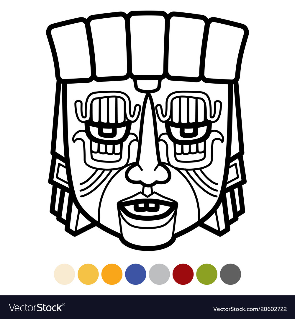 Indian aztec african mexican tribal mask