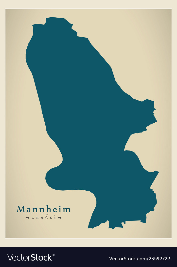 Modern Map Of Germany.Modern Map Mannheim City Of Germany De