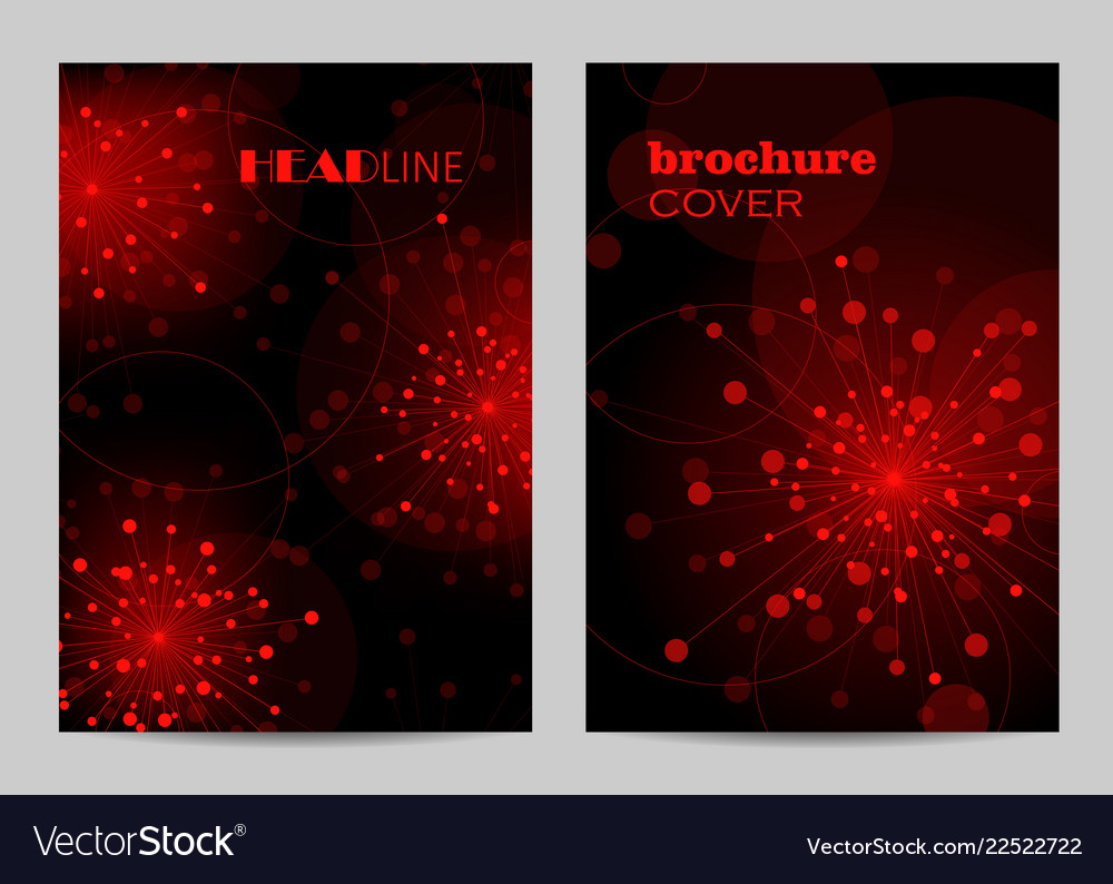 Modern templates for brochure cover in a4