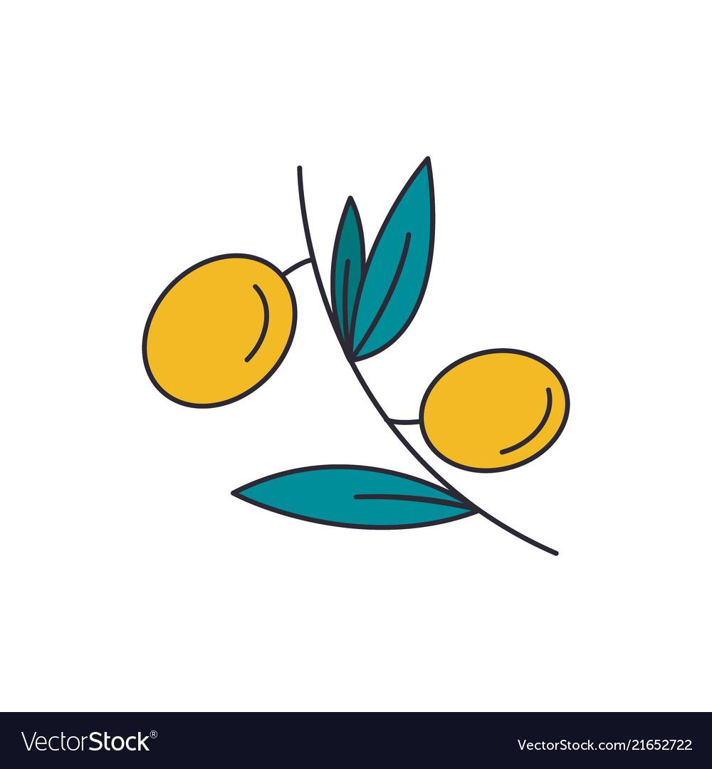 Olives icon cartoon style