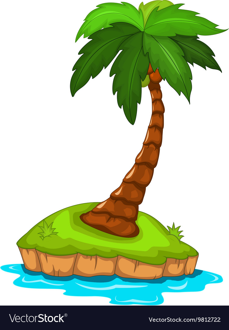 Palm tree for you design vector image