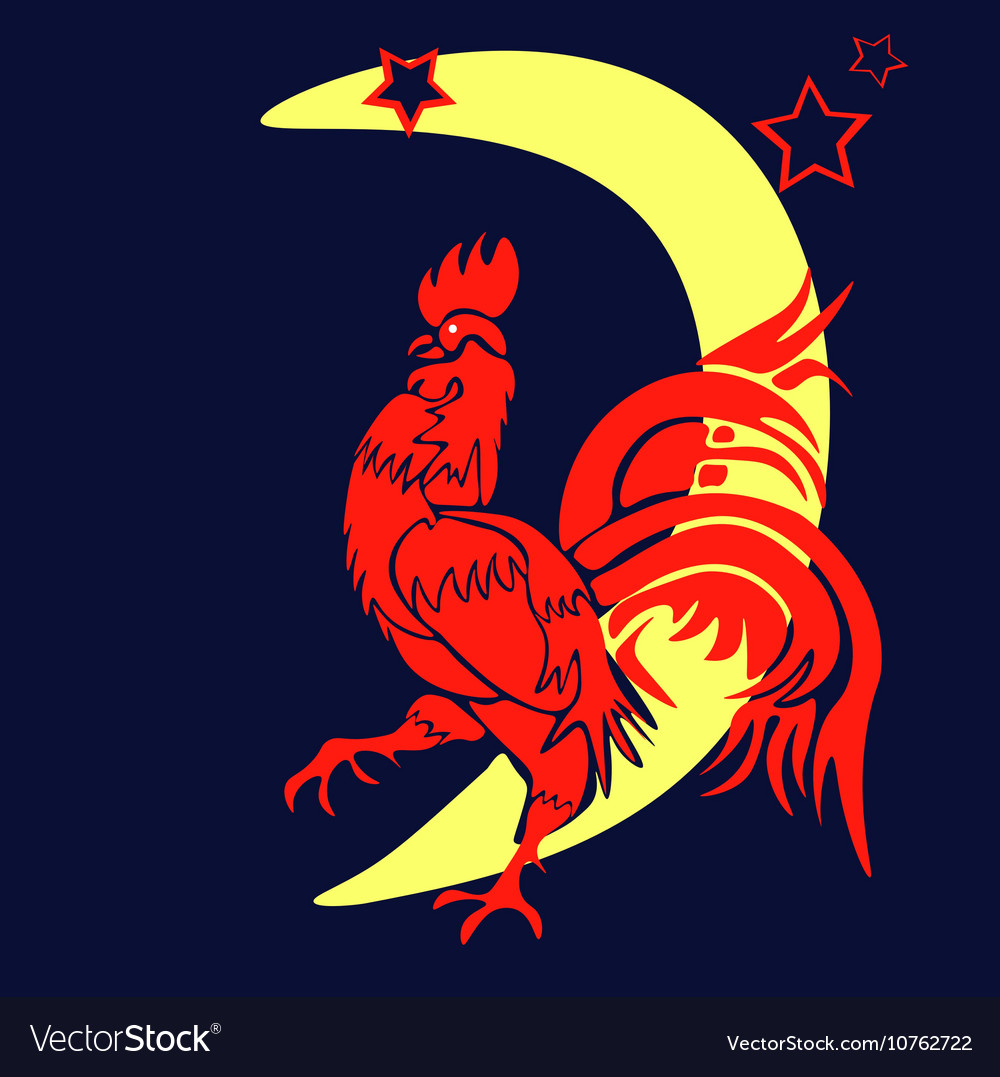 The coming year red rooster Chinese Year of the