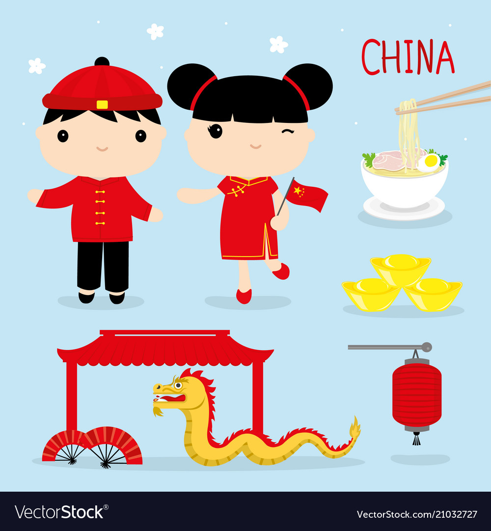 China tradition food place travel asia cartoon