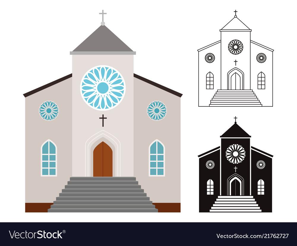 Churches buildings set