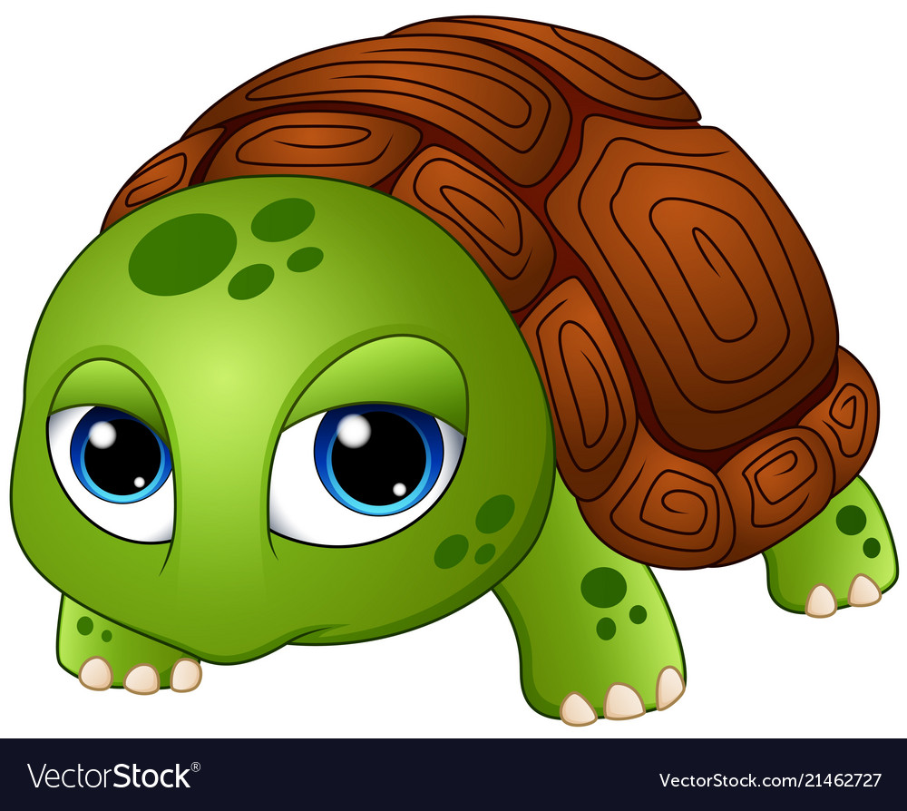 Cute Baby Turtle Cartoon Royalty Free Vector Image