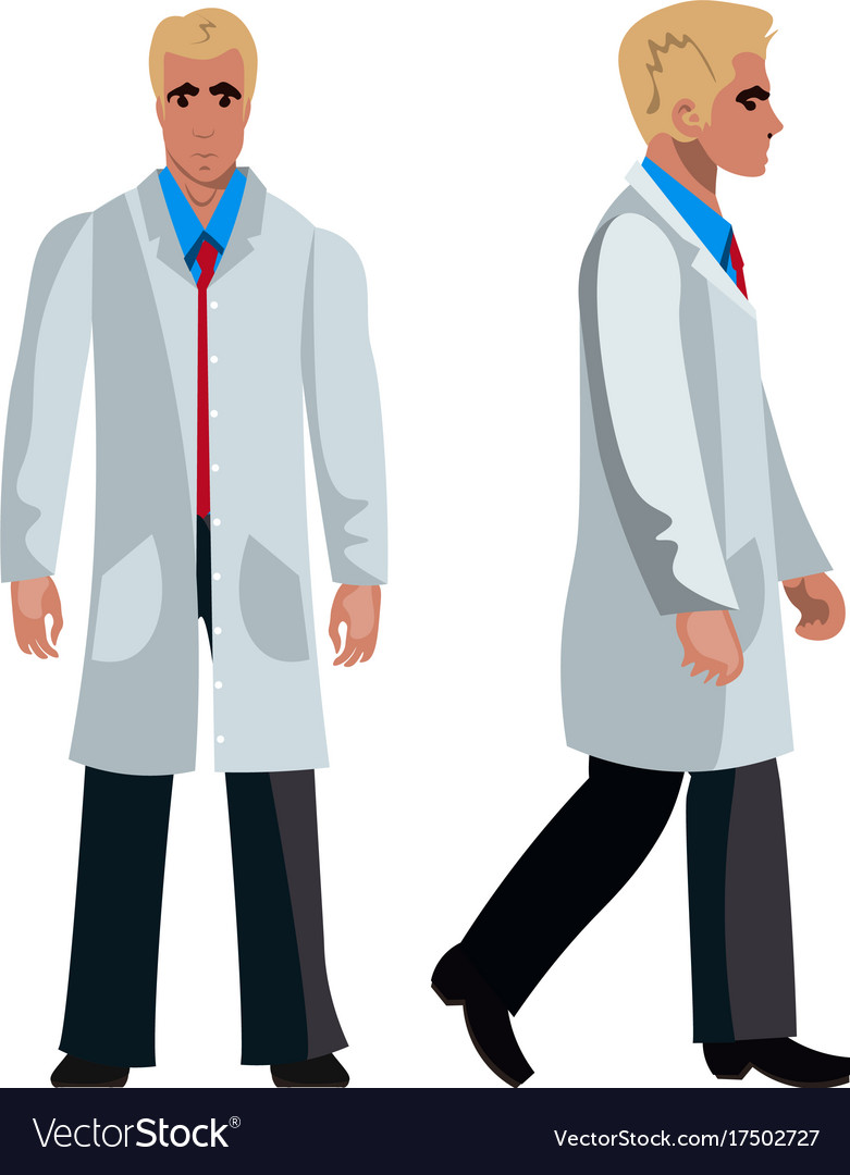 Doctor man character flat design