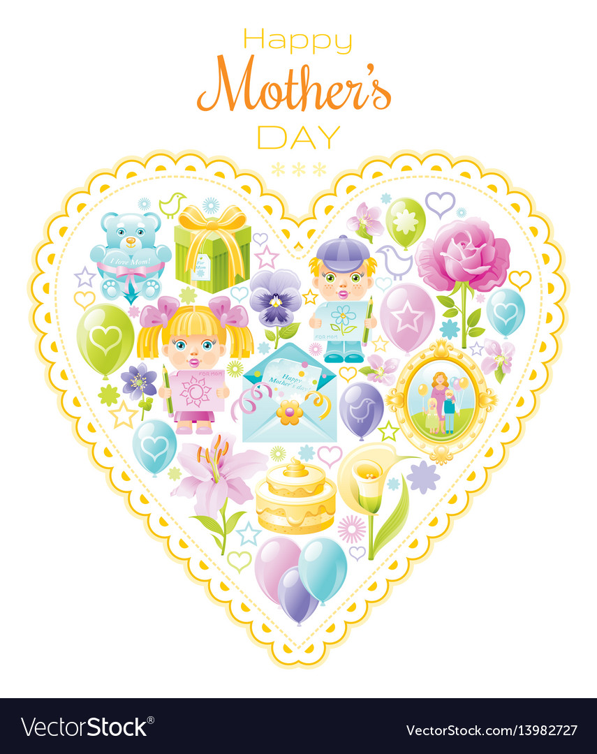 I love mom greeting card mothers day poster