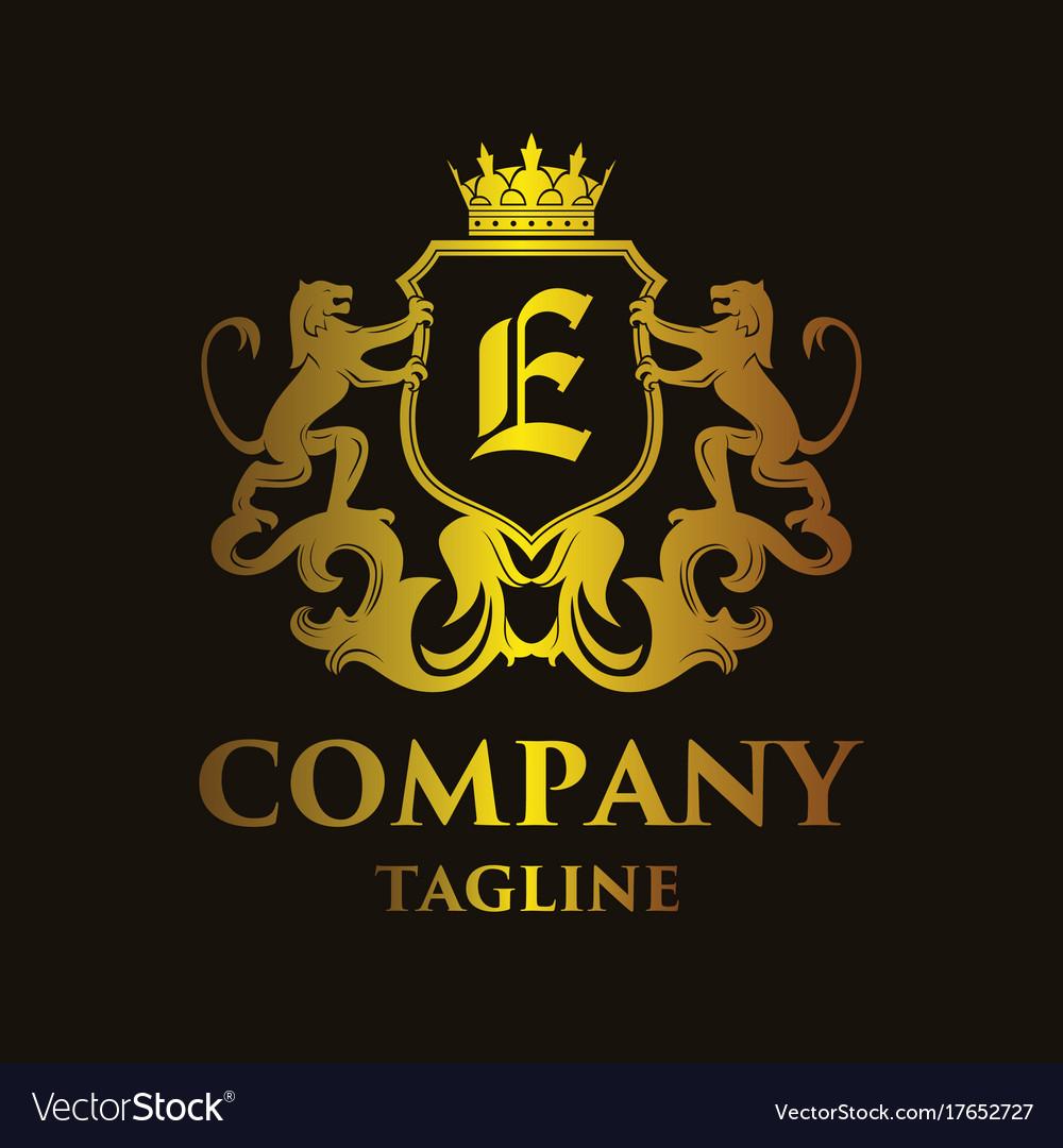 Luxury letter e logo