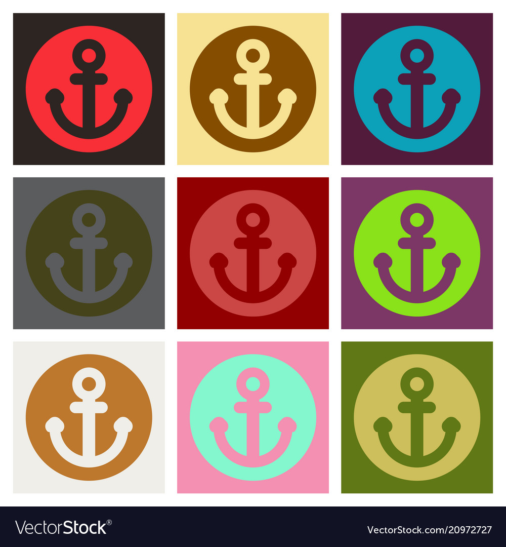 Nautical anchor isolated background ship anchor