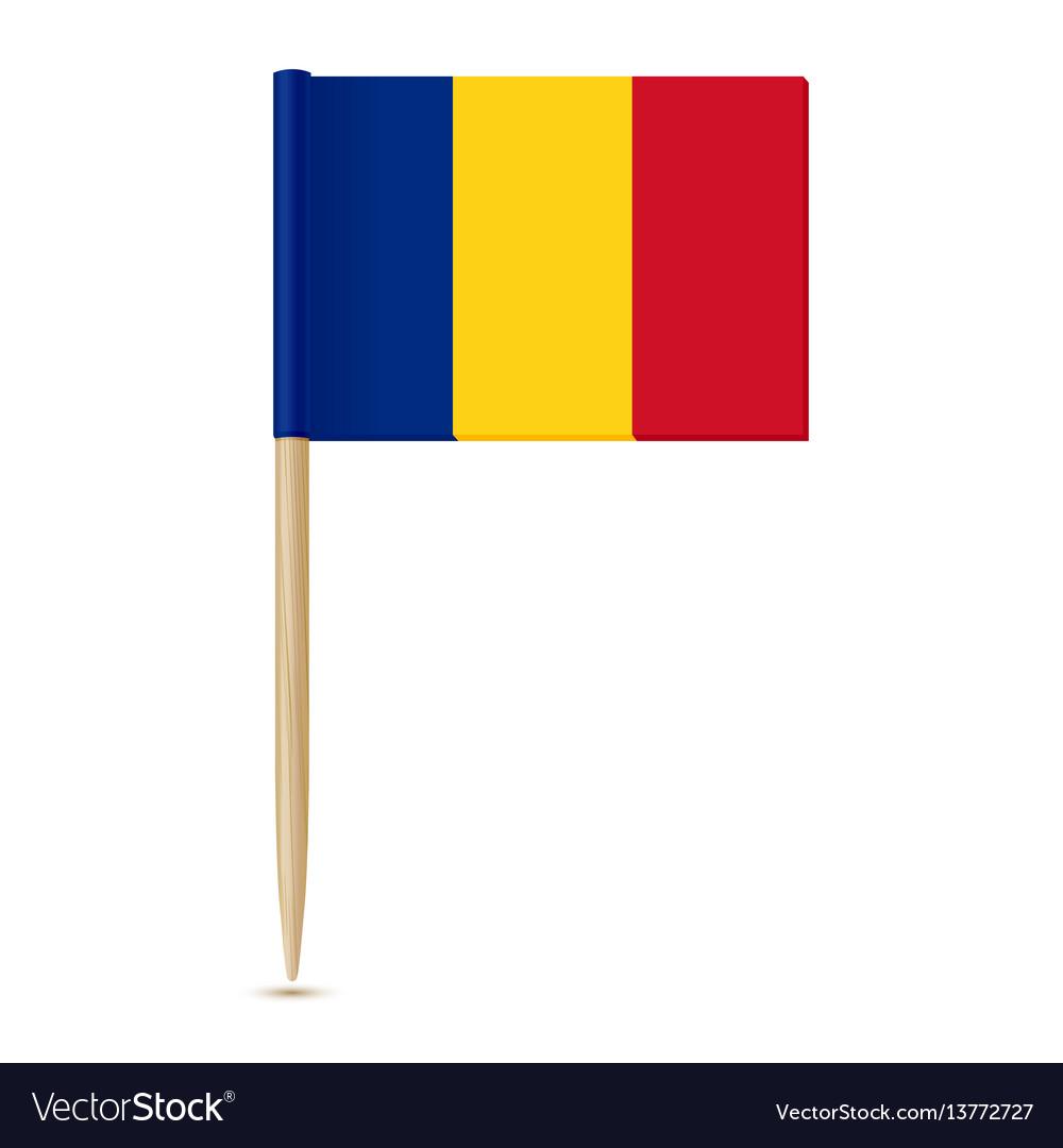 Romania flag toothpick vector image
