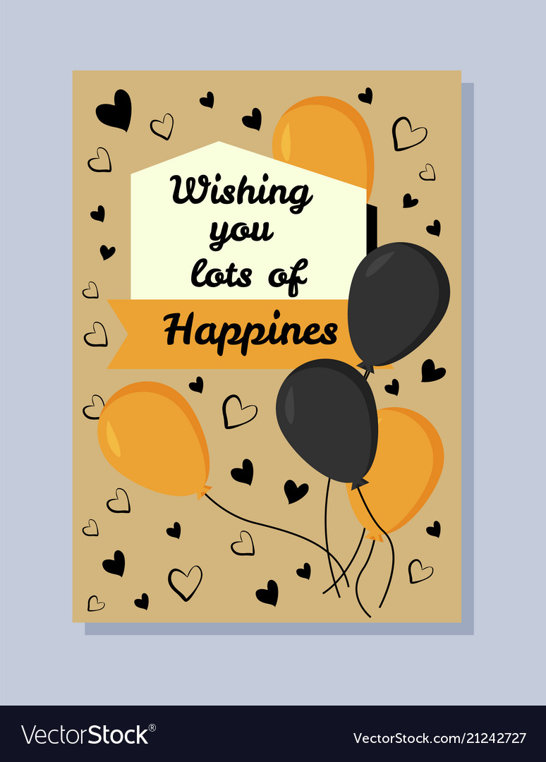 Wishing you lots of happiness
