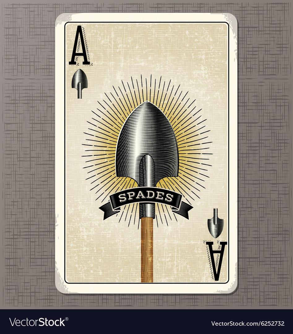 vintage spade card  Ace of spades vintage playing card