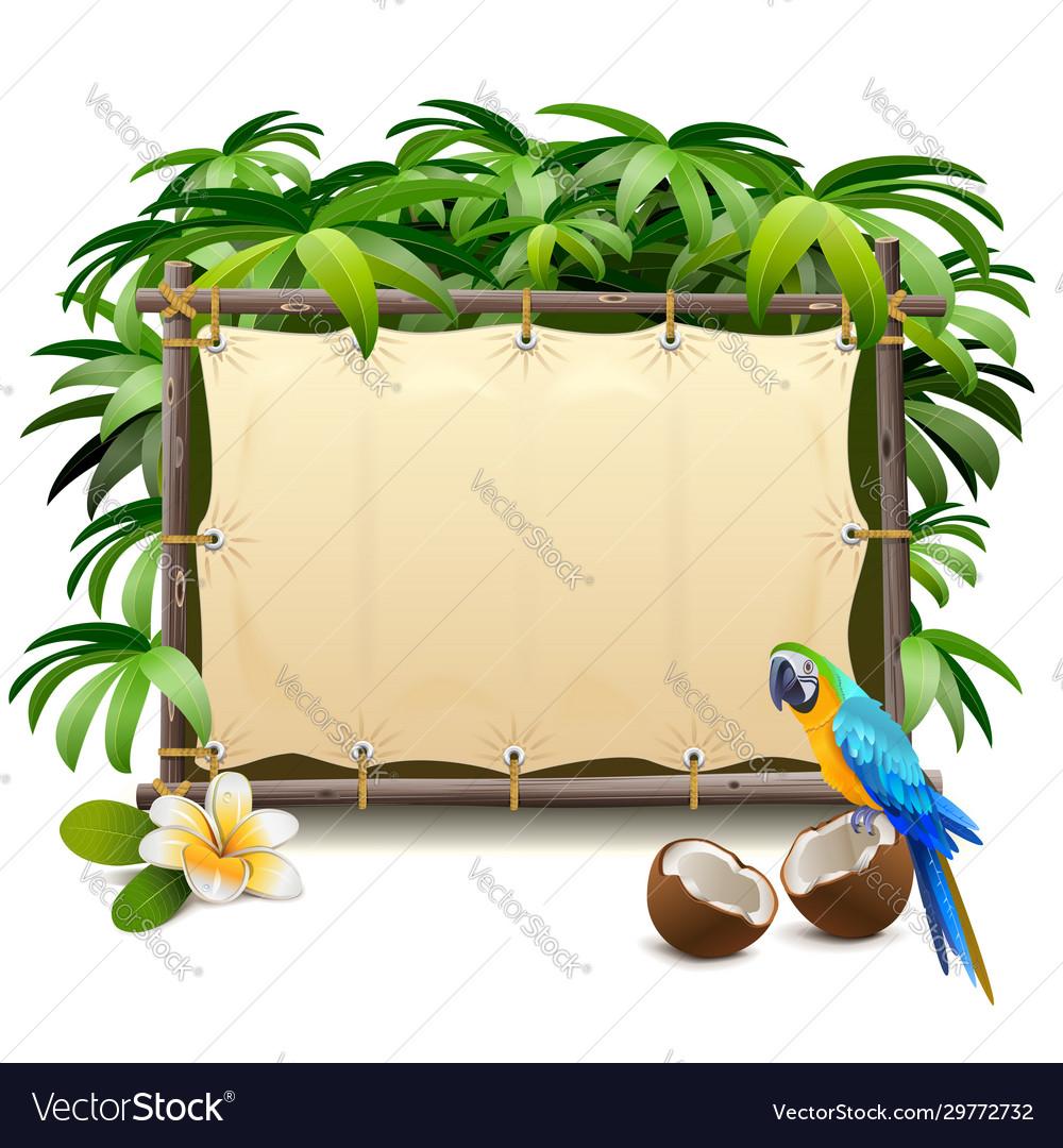 Canvas tropics frame