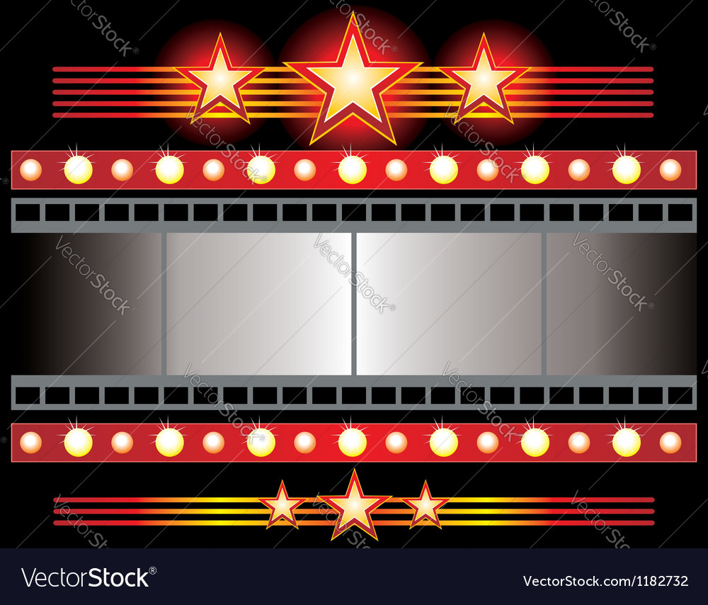 Film strip background collection vector image