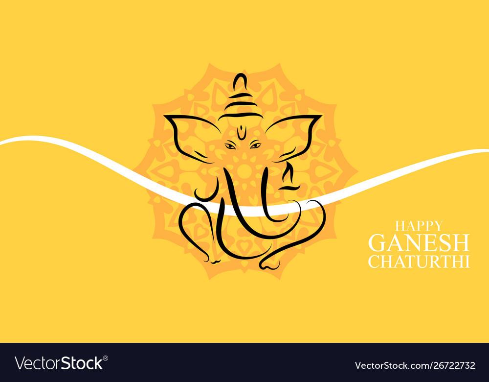 Happy Ganesh Chaturthi Background Design