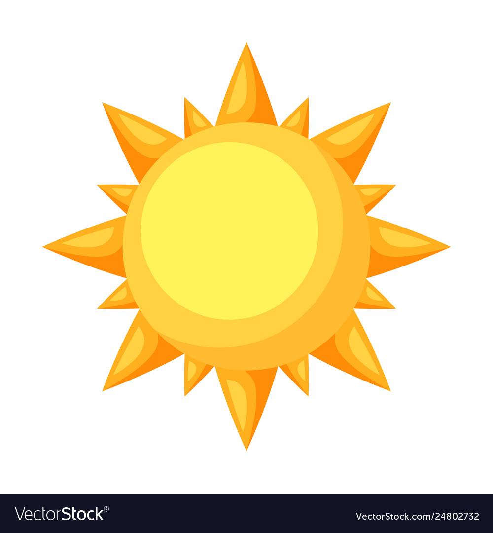 Icon cartoon sun
