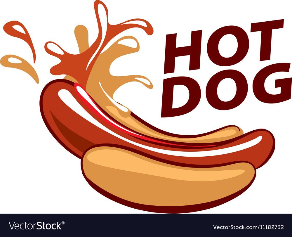 logo hot dog royalty free vector image vectorstock rh vectorstock com hot dog lego guy target hot dog lego minifigure