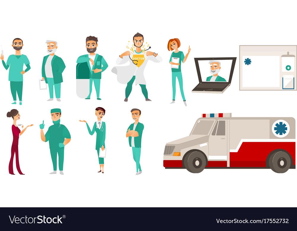 Medical staff - doctors ambulance online help
