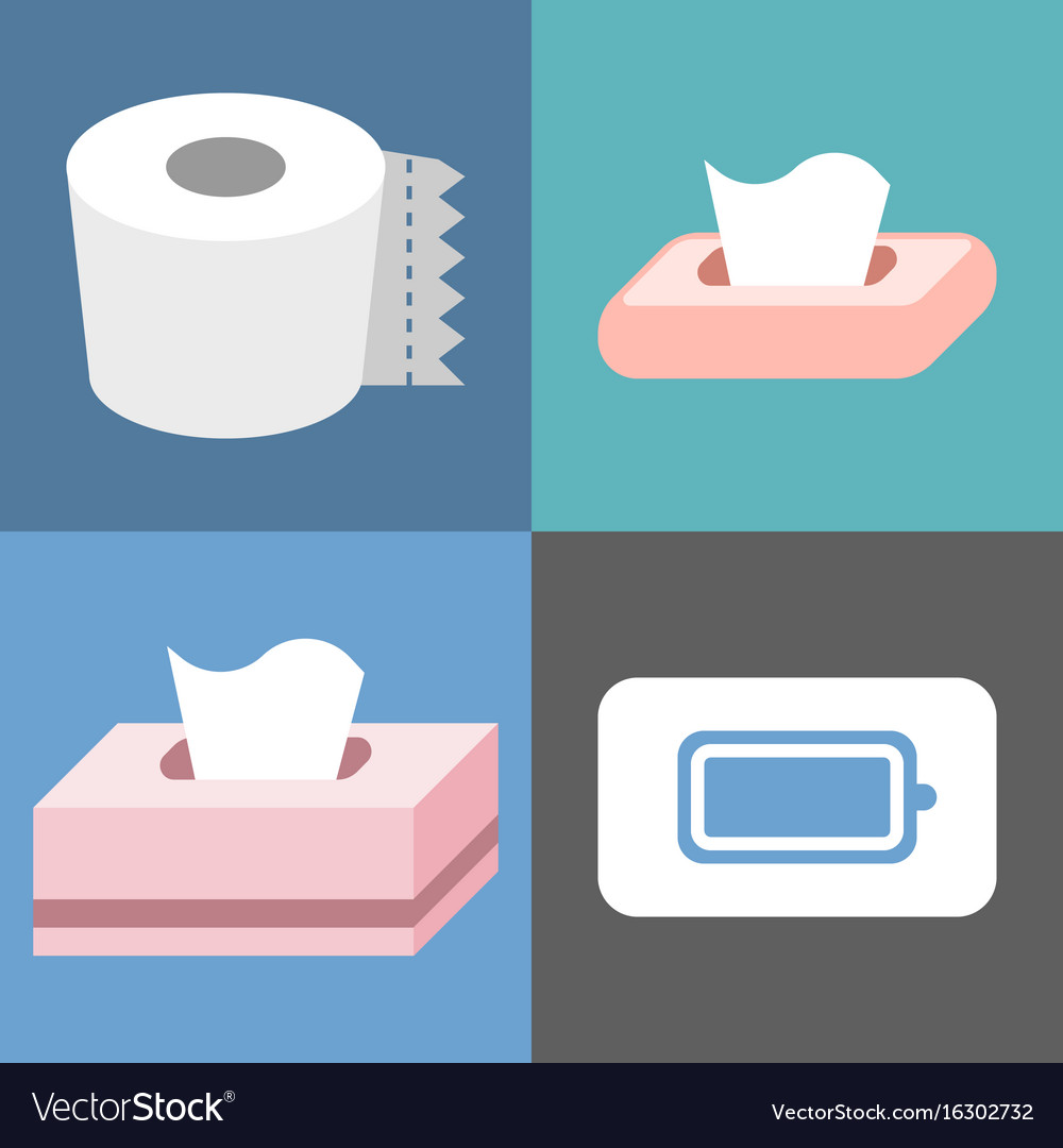 Tissue icons set