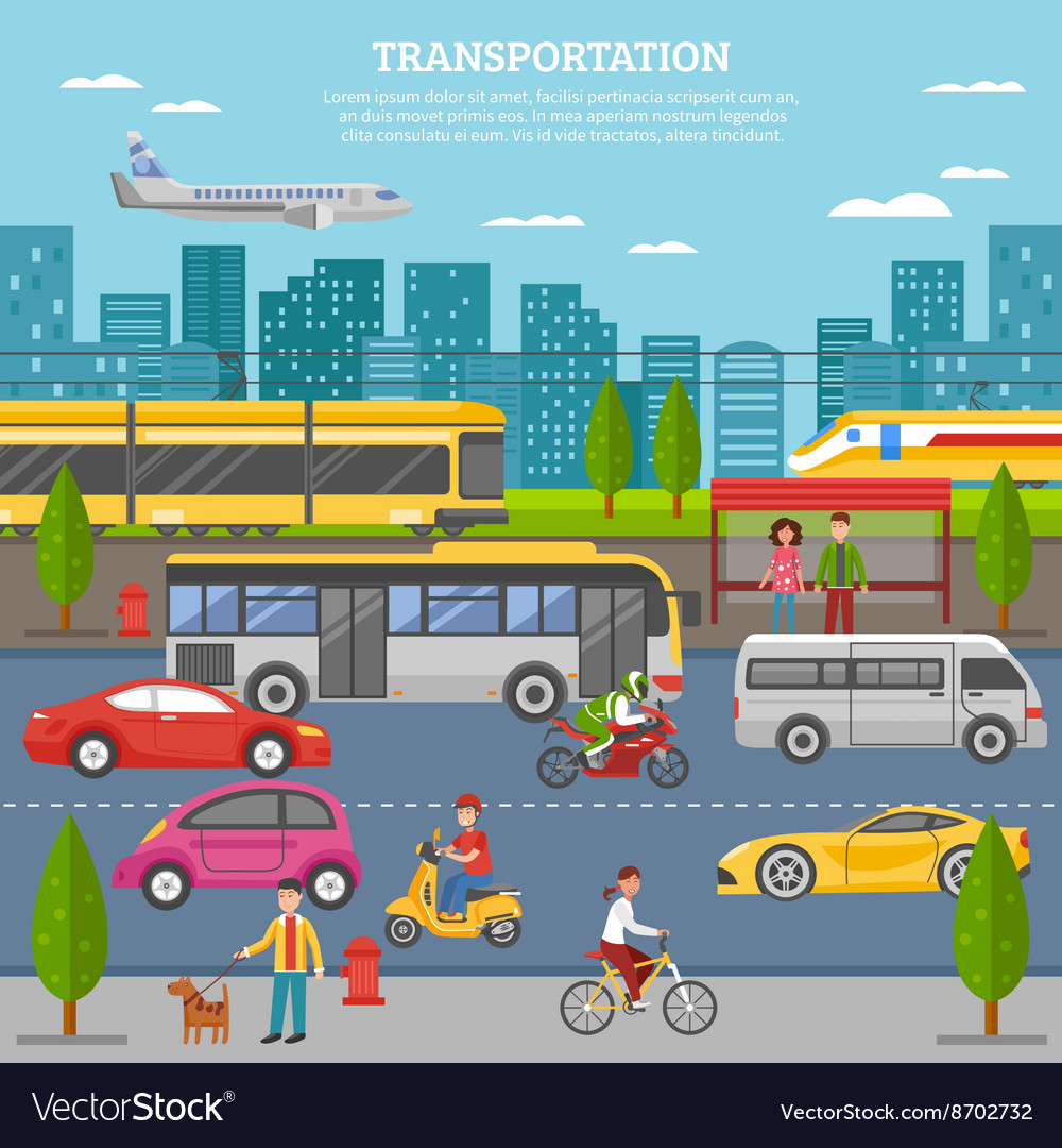 Transport In City Poster