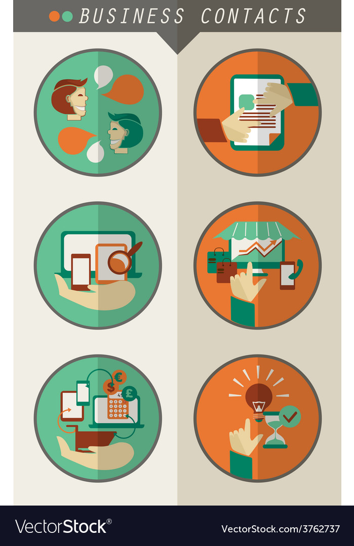 Business contacts infographic vector image