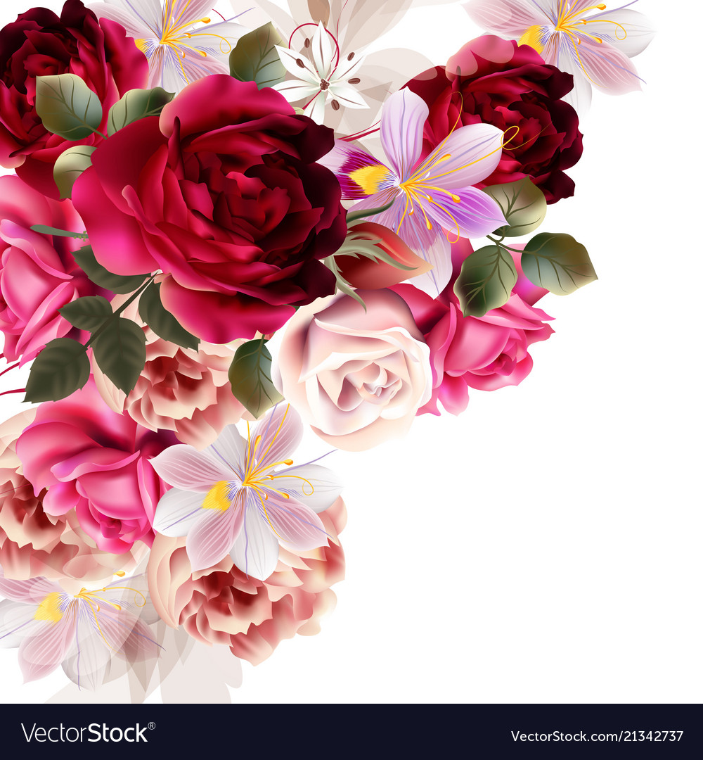 Cute Flower Bouquet For Design Royalty Free Vector Image