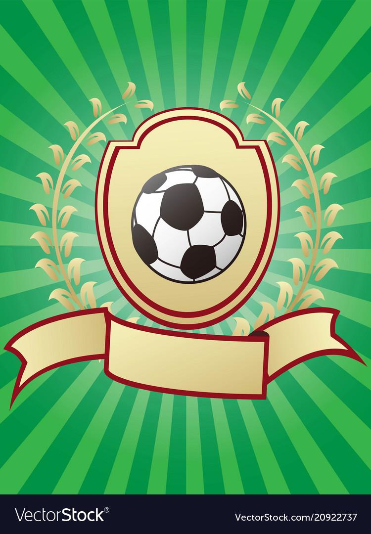 Soccer championship design shiny gold shield