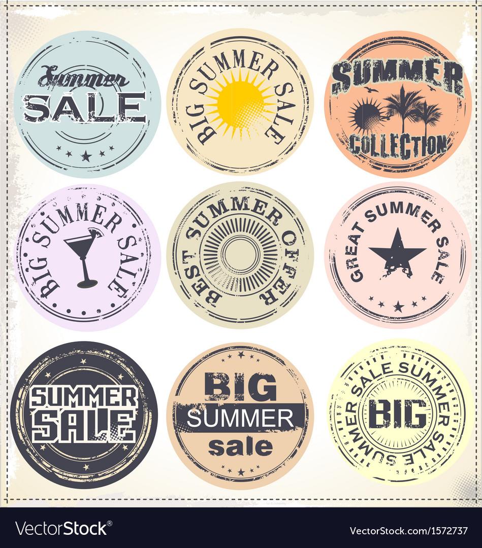 Summer sale grunge rubber stamp