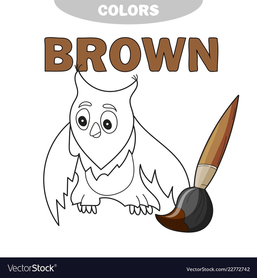 Funny cartoon character owl isolated