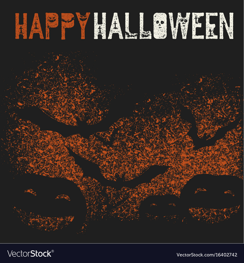 Happy halloween holiday logotype pumpkins and