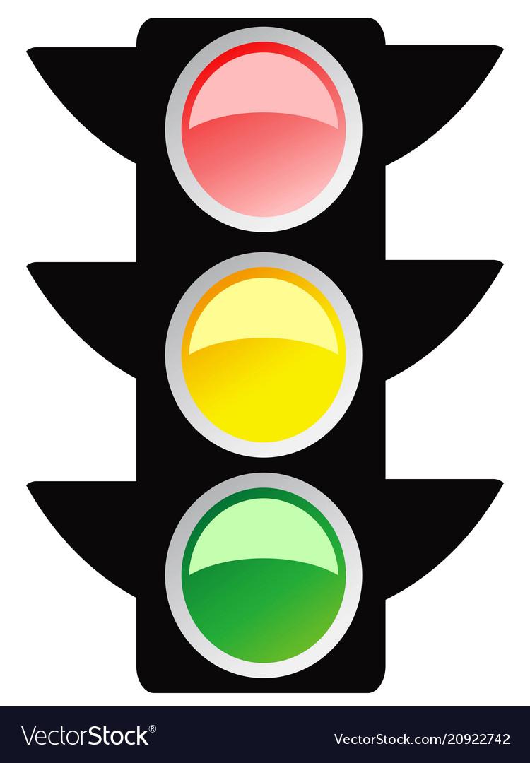 Isolated traffic light design icon
