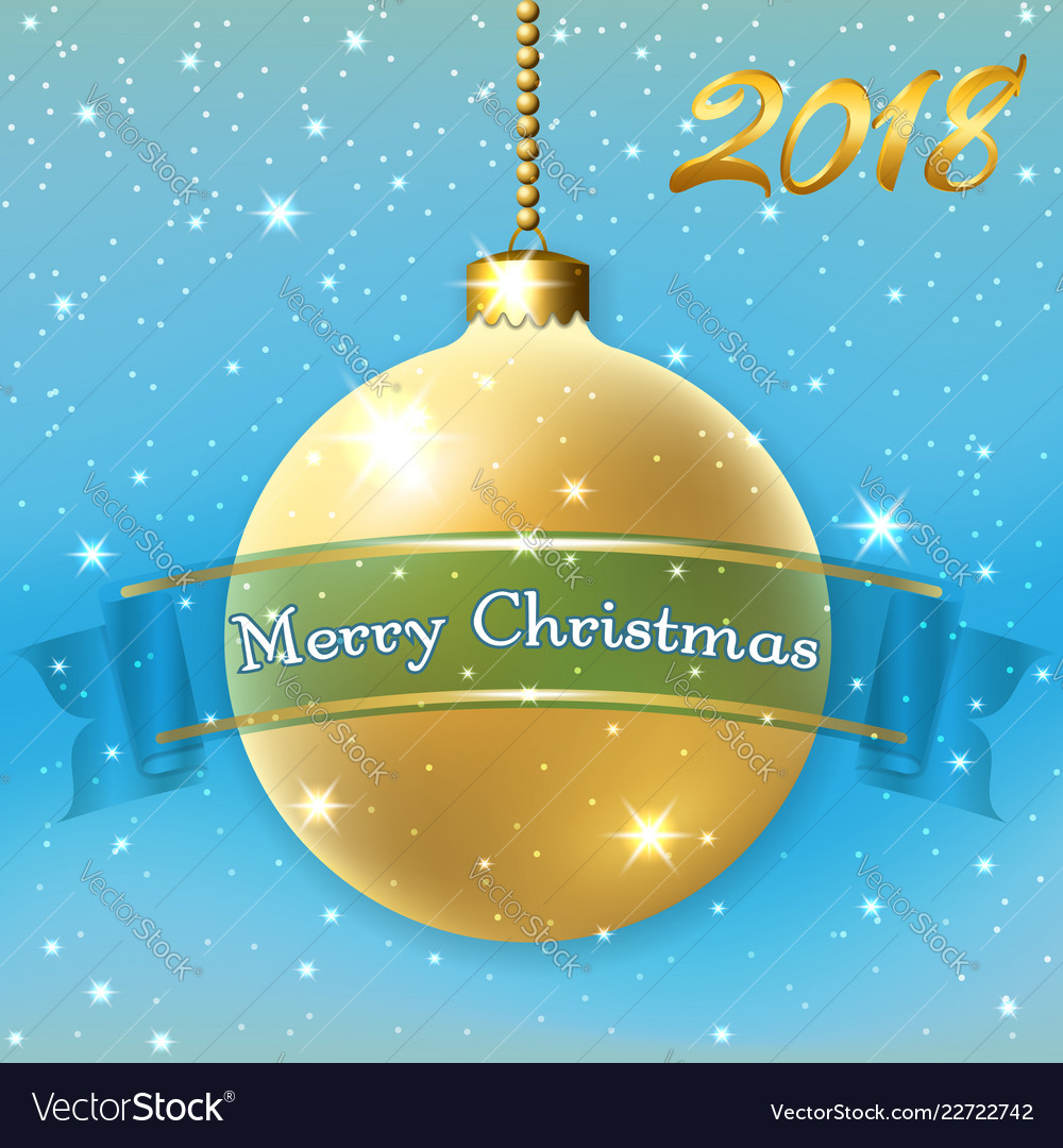 Merry christmas decoration background with 3d gold