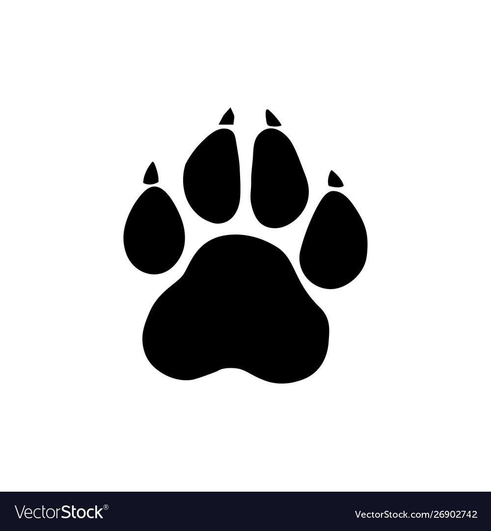 Paw prints logo isolated