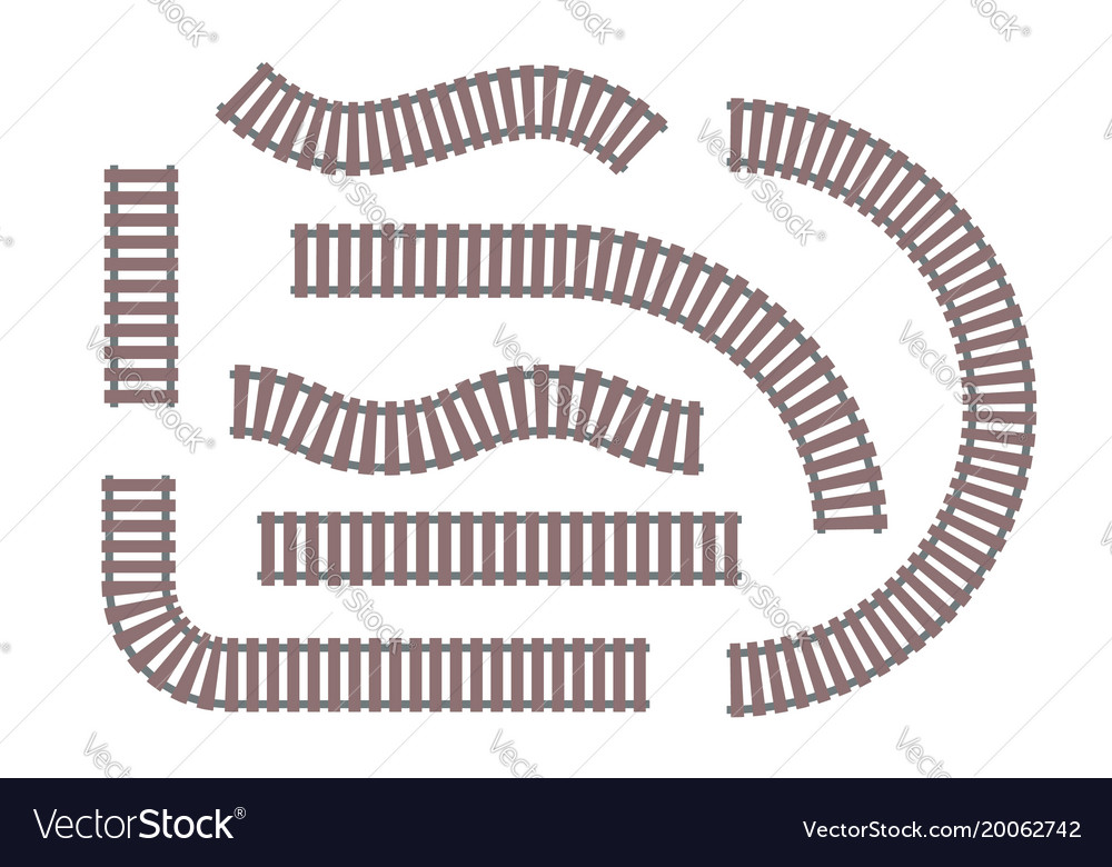 rails set of modern objects royalty free vector image