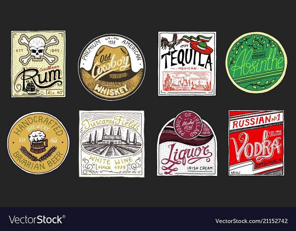 Vintage american badge absinthe tequila vodka
