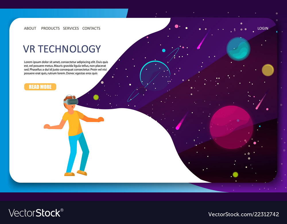 Vr technology landing page website template