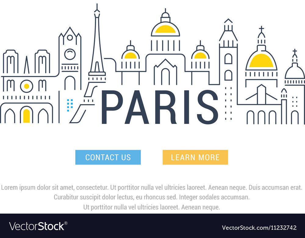 Website Banner and Landing Page Paris