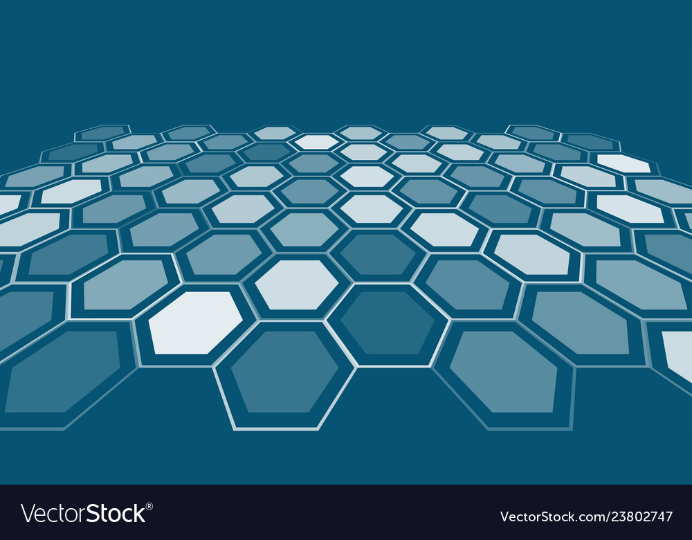 Abstract art backdrop hexagonal style