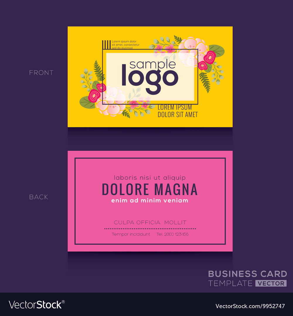 Cute Floral pattern Business card name card