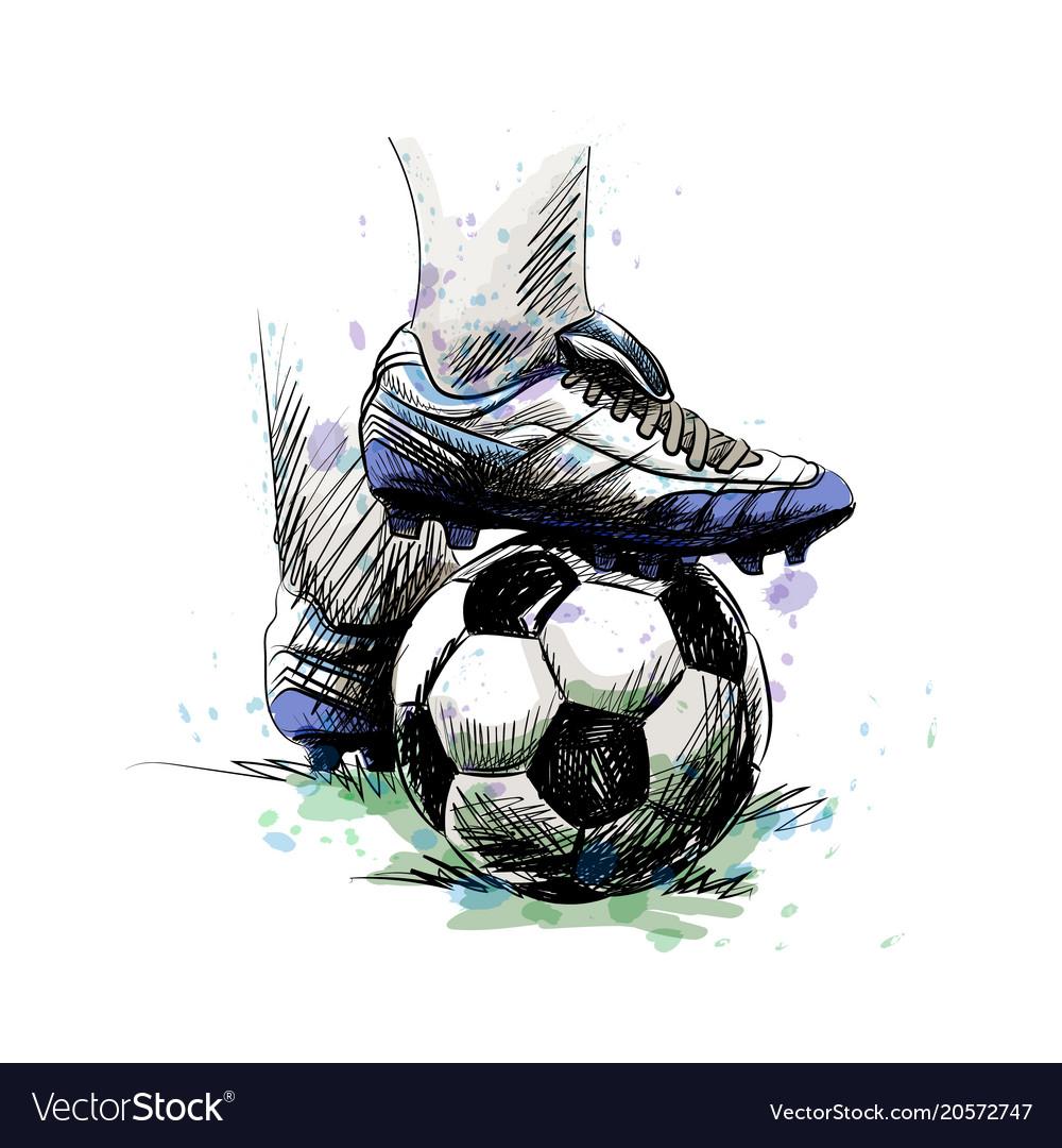 Football player ball