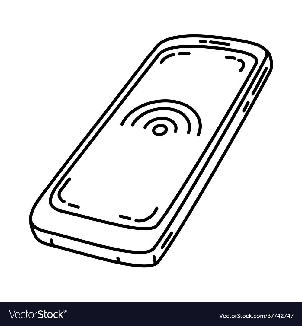 Handphone icon doodle hand drawn or outline icon