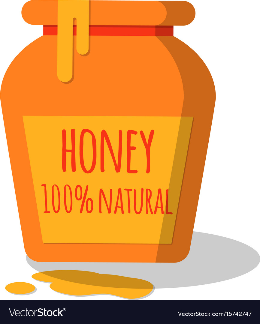 Honey pot with dripping honey
