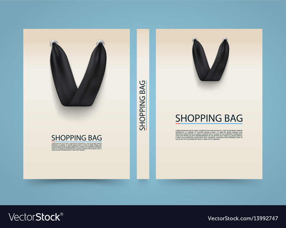 Paper bag cover shopping advertising banner a4