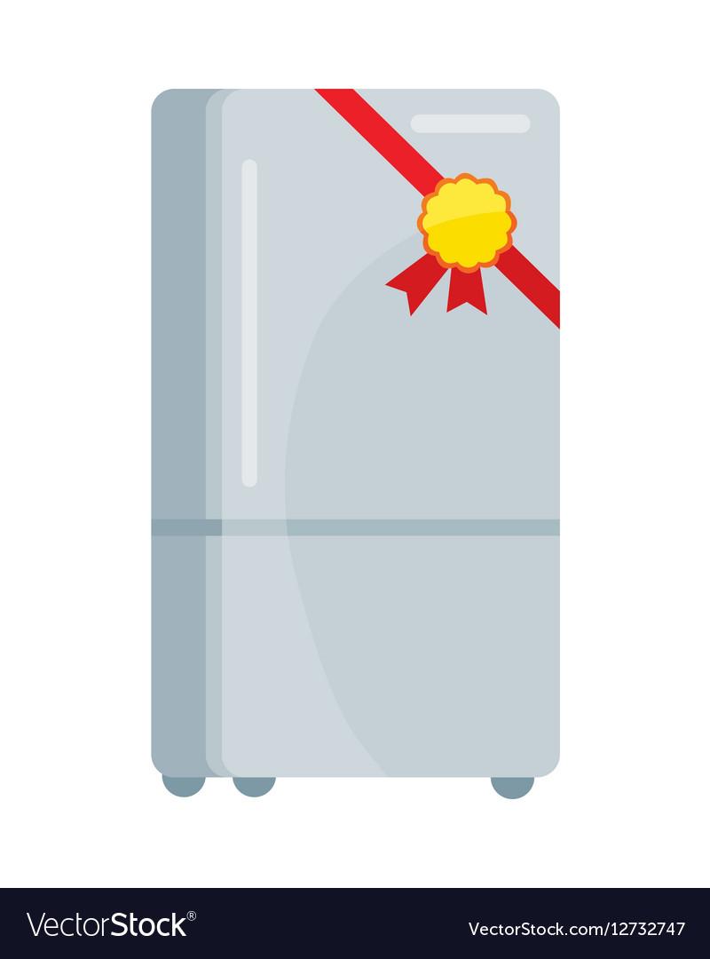 Refrigerator in Flat Design vector image